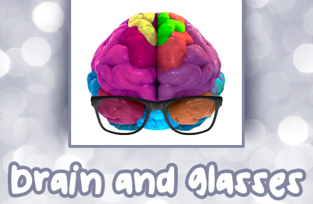 brain and glasses
